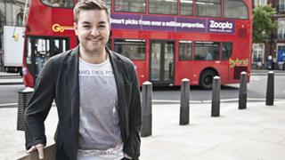 Alex Brooker outside Broadcasting House