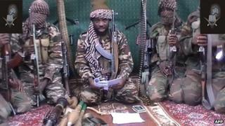 A screengrab taken in September and distributed to local reporters showing a man claiming to be the leader of Boko Haram, Abubakar Shekau