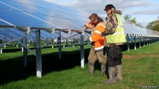 Wedmore Community Power Company's solar panels