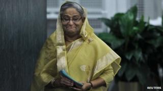 Bangladesh's PM Sheikh Hasina at UN headquarters in New York