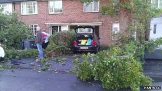 Aftermath of Hayling Island tornado