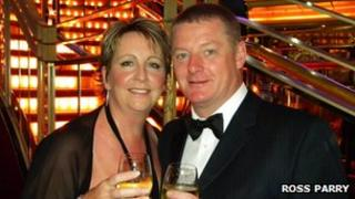 Julie Davies and Keith West