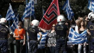 Golden Dawn supporters in Athens. 2 Oct 2013