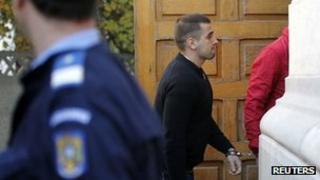 Alexandru Bitu arriving in court
