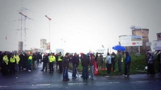 Protest at Ferrybridge