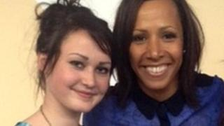 Christina Lester and Dame Kelly Holmes