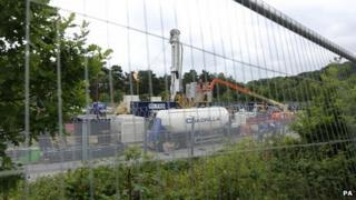 The Cuadrilla site at Balcombe