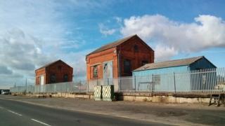 Derelict buildings at Grimsby Docks