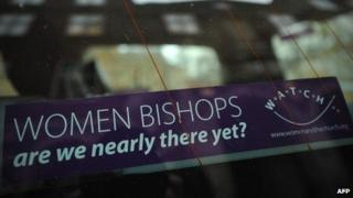 Women bishops car sticker