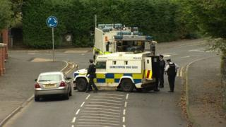 The Lurgan alert led to part of the railway line being closed