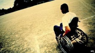 Generic image of a man in a wheelchair