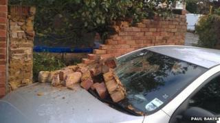 Paul Baker car damage Maidenhead