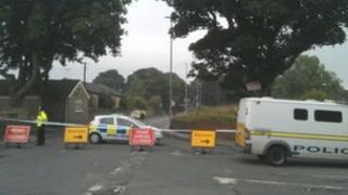 Police cordon on Middleton Lane