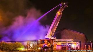 Kirkintilloch industrial unit blaze