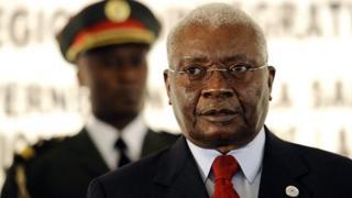 Mozambican President Armando Guebuza in Maputo (August 2012)