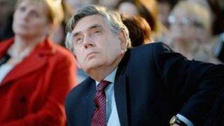Gordon Brown at a Labour event in Glasgow in September