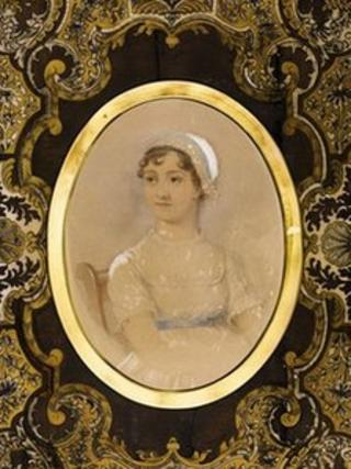 James Andrews, Jane Austen, watercolour over pencil, 1869