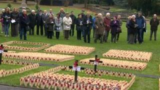 Saltwell Park field of remembrance