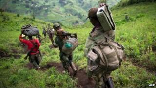 M23 rebels in eastern DR Congo (December 2012)