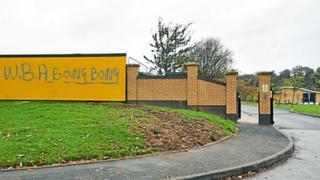 Graffiti at Wolves training ground