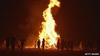 Bonfire in Glasgow, 5 November 2012
