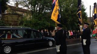 L/Cpl James Brynin funeral cortege