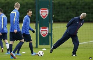 Arsenal in training