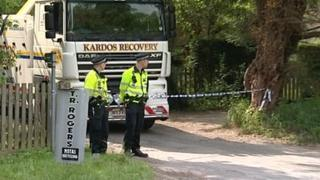 TR Rogers scrapyard police raid Nuneham Courtenay