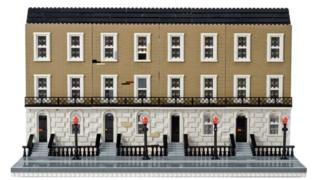 One of Edinburgh's famous Georgian terraces gets the Lego treatment
