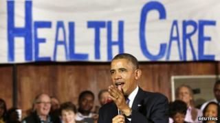 US President Barack Obama spoke at a Dallas, Texas synagogue on 6 November 2013