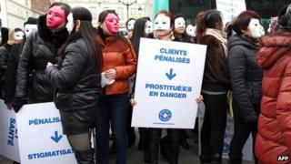 Prostitutes in Paris, 16 Mar 12