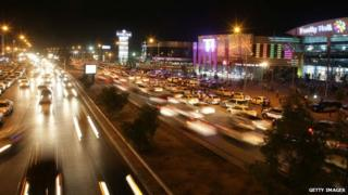 Irbil at night