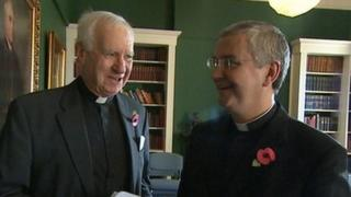 Right Reverend Christopher Budd and Monsignor Mark O'Toole