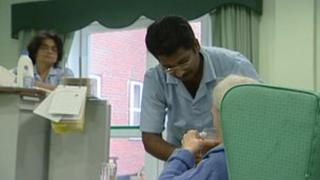BBC Screen grab of a residential home