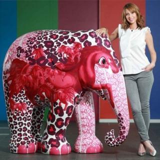 Alex Jones with her elephant design, Spirit