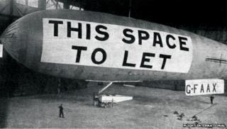 The AD.1 airship in the Cramlington hangar
