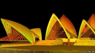 Scottish Ten 3D map of Sydney Opera House