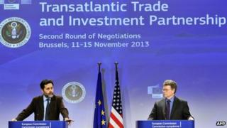 Trade negotiators in Brussels