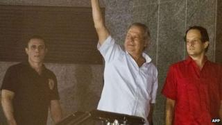 Former Brazil chief of Staff Jose Dirceu hands himself over to the police