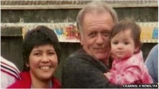 Colin Bembridge with his Filipino partner Maybelle and their daughter Victoria