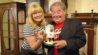 Eddie Large and his wife Patsy