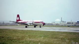 Dan Air flight at Dounreay