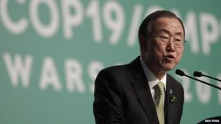 Ban Ki-moon at Cop 19