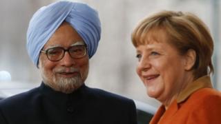 PM Manmohan Singh (L) has praised Chancellor Angela Merkel's contribution in strengthening India-Germany ties