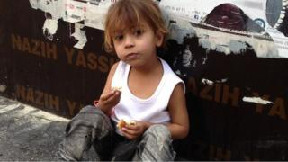 Young Syrian refugee in Beirut
