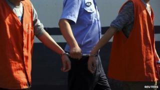 File photo: China inmates