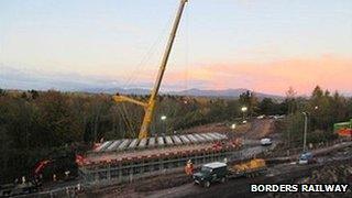 Borders Railway works