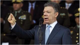 Colombia's President, Juan Manuel Santos