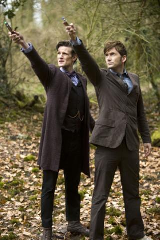 two doctors with sonic screwdrivers