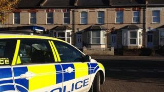 Murder scene in Alphington Road, Exeter